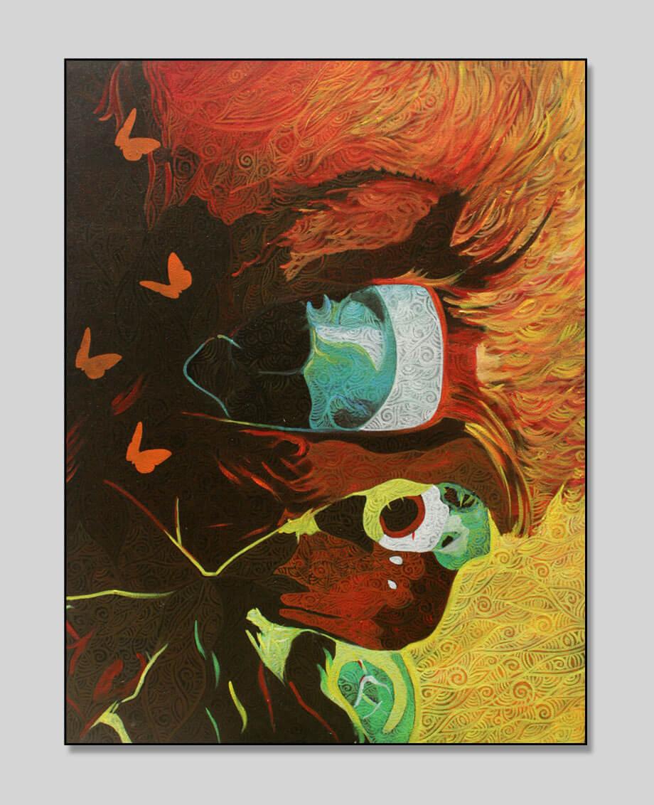 Eye with Fly, Acrylic on Canvas